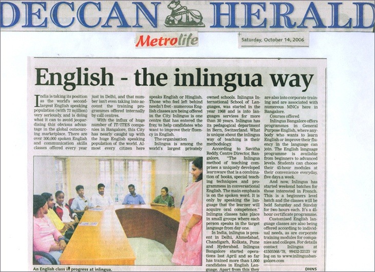 English training in Bangalore